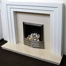 mdf white fire surrounds from glowing embers