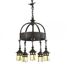 i just discovered this gustav stickley fine chandelier on liveauctioneers and wanted to share it with