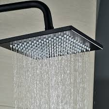 square shower head oil rubbed bronze wall mounted square rainfall shower head with handheld shower 1 square shower head