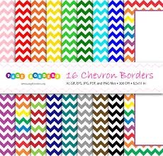 Small Picture Bundle of chevron page borders in 16 different colors Get it at