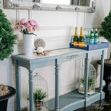 painted console table. French Blue Painted Console Table | Classy Glam Living