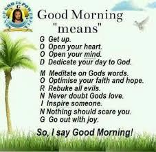 Good Morning God Words