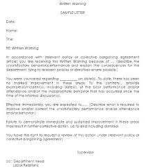Employee Performance Letter Sample Employee Performance Write Up Template