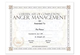 free certificate of completion template free anger management certificate of completion template the hakkinen