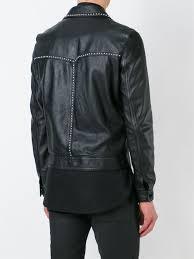 saint lau studded leather jacket men clothing yves saint lau shirt superior quality