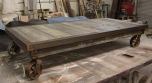 industrial metal and wood furniture. Industrial Metal And Wood Coffee Table With Caster Furniture T