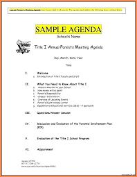 Meeting Agenda Template Pdf