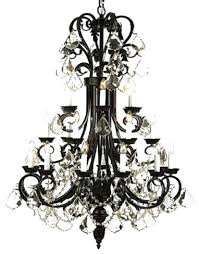large foyer entryway wrought iron chandelier