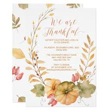 Thanksgiving Invites Rustic Thanksgiving Invitation Fall Invite
