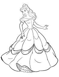 Small Picture Disney Princess Beauty And The Beast Belle Coloring Page H M