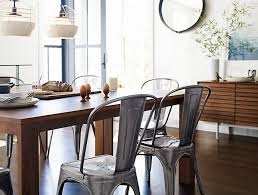 view in gallery wooden table and metal chairs from design within reach
