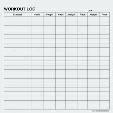 Weight Lifting Log Sheets Exercise Chart Template Sample Workout Log Sheets Yakult Co