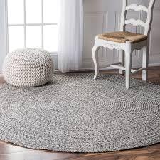 oliver james rowan handmade grey braided area rug 6 round with regard to plans 0