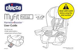 chicco myfit zip air product manual