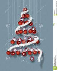 Christmas Tree Made of Ornaments on Blue Background