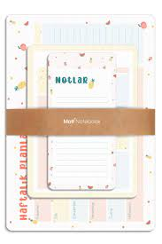 Matt Notebook 3'lü Masaüstü Planlayıcı Set Meyve