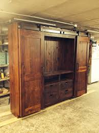 barn door entertainment cabinets farmhouse entertainment centers and tv stands