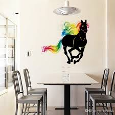 sk9054 running horse wall sticker 3d colorful horse tail wall decals animals art mural poster home decoration nursery wall sticker nursery wall stickers  on horse wall art decal with sk9054 running horse wall sticker 3d colorful horse tail wall decals