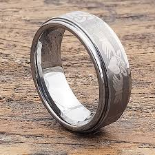 Titan <b>Unique</b> Celtic <b>Brushed</b> Claddagh Rings - Forever Metals
