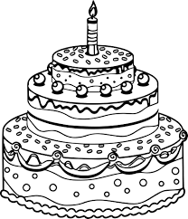Small Picture Fresh Birthday Cake Coloring Page 64 About Remodel Free Coloring