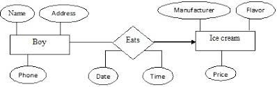 entity relationship diagram   dbms   eazynotesthese attribute do not inform anything more either about the boy or the ice cream  but they provide additional information about the relationships between