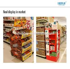 Free Standing Retail Display Units Folding Recyclable Cardboard Supermarket Floor Standing Display 26