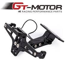 GT Motor <b>Motorcycle full CNC Adjustable</b> Angle Aluminum License ...