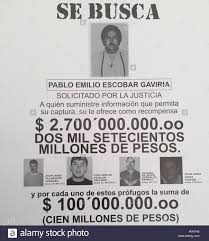 A Wanted Poster Which Shows Pablo Escobar And His Accomplice Jhon