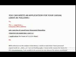 Application For Leave Form Extraordinary How To Write Application Letter For Casual Leave In Professional Way