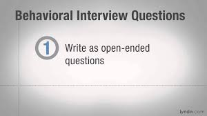 hiring tutorial writing effective behavioral interview questions hiring tutorial writing effective behavioral interview questions lynda com