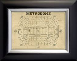 Vintage Style Print Of The Metrodome Stadium Seating By