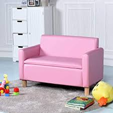 costway kids sofa storage children armchair single double seater seat boys s lounger couch padded