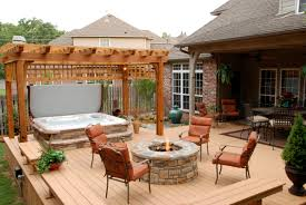 patio designs with fire pit and hot tub. Bhot Tub Install With Stone Patio Deck Porch Plus Decks Designs Fire Pit And Hot T