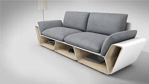 Creative furniture design Attractive Upholsteredcouch Creativeoverflow More Counter Space While Showcasing Creative Furniture Design