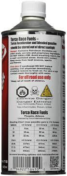 Torco Fuel Accelerator Chart Torco F500010te Unleaded Fuel Accelerator