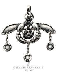 malia bees silver pendant brooch extra large minoan jewellery