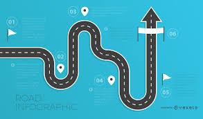 Road Infographics Template Vector Download