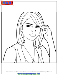 selena gomez printable coloring pages coloring home saveenlarge coloring