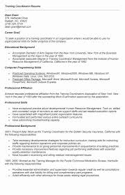 Maintenance Manager Resume Fresh Training Coordinator Salary Elegant