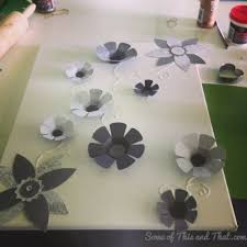 diy 3d wall art on 3d white flower wall art with diy 3d wall art some of this and that
