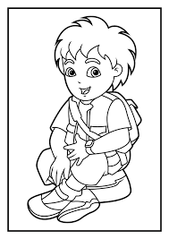 Small Picture Coloring Pages Marvelous Diego Pages2 In zimeonme