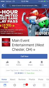 dayton flyers facebook cover how main event entertainment in west chester ohio does false