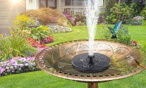 solar powered water fountain groupon