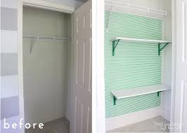 whether you remove the already installed shelves or just complement what is there adding shelves to a closet provides more surface area to stack and