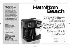 hamilton beach 2 way flexbrew coffee