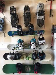 homemade snowboard storage