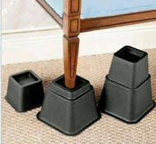 furniture risers. bed risers furniture lift set of 8 heavy duty lifts raise height lifters new n