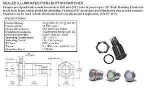 switches lighted and illumunated 22500 22 blue illuminated momentary spdt sealed push botton switch