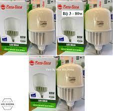 Combo Bộ 3 Bóng đèn LED BULB Trụ 60W - 80W Rạng Đông - Sử dụng Chip LED  Samsung - Bảo hành 24 tháng, giá chỉ 805,000đ! Mua ngay kẻo hết!