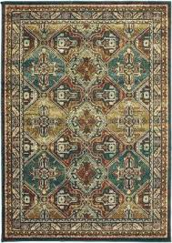 oriental weavers dawson 8527a teal brown area rug